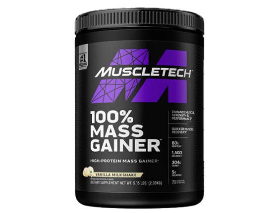 MuscleTech 100% Mass Gainer - Premium Weight Gaine
