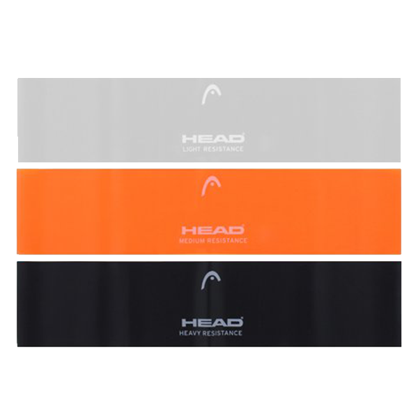HEAD FITNESS 3-PACK LOOPED RESISTANCE BANDS