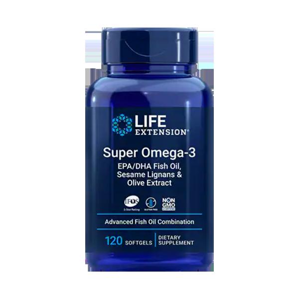 Super Omega-3 EPA/DHA Fish Oil, Sesame Lignans & Olive Extract